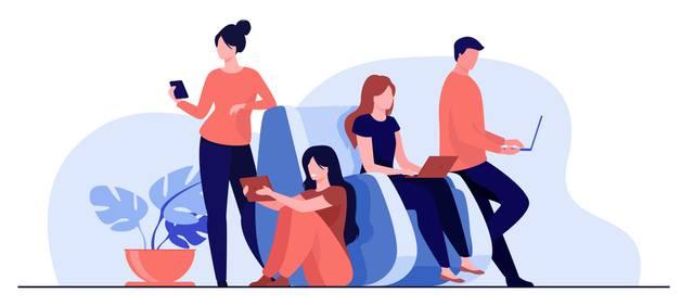 Молодые люди активно используют социальные сети