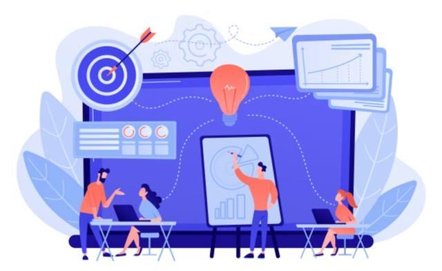 Команда предпримателей работает над бизнес-идеями