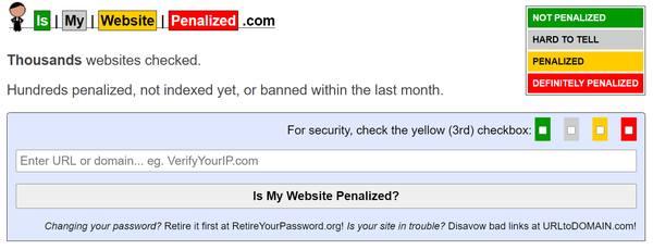 Проверка чистоты сайта от санкций поисковых систем